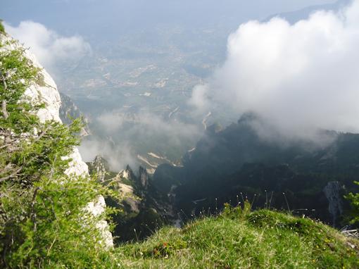 La Valsugana dall'alto