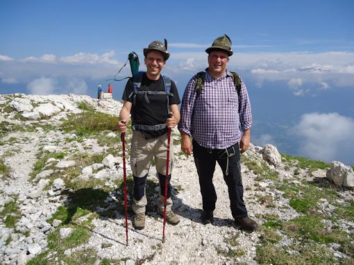 A sinistra il capogruppo di Conco - Gianpaolo - e a destra il capogruppo di Magnano Gianluca