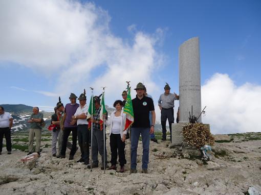 Monte Ortigara - commemorazione alla colonna mozza