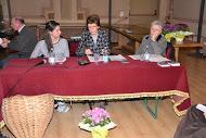 Il tavolo delle relatrici. Da sx Francesca Boschetti, dott.ssa Margherita Ferrari e l'on. Maria Pia Garavaglia