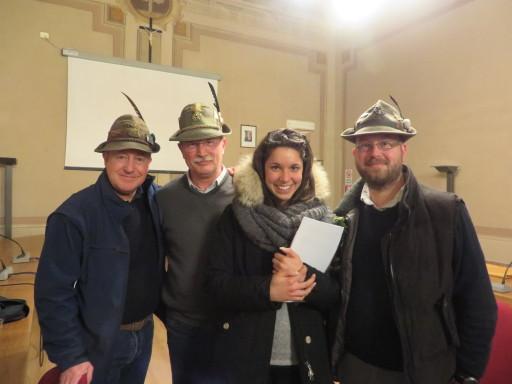 da sin. Morgante, Mauro Ermacora, Francesca Boschetti, Alessandro revelant
